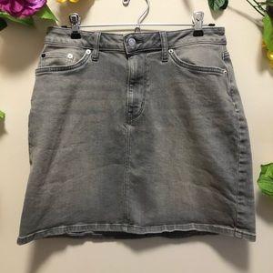 Calvin Klein Gray Denim Jean Skirt Size 6